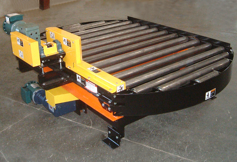 Powered turntable with customer supplied CDLR conveyor mounted
