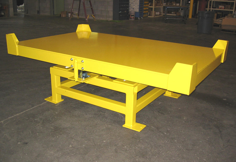 Heavy duty manual turntable for large rack