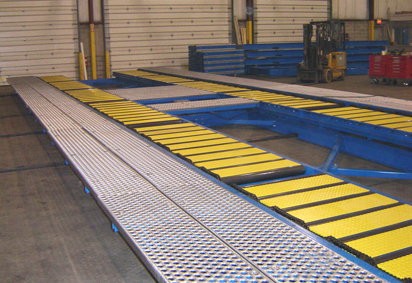 12' wide x 60' long transfer car at final assembly