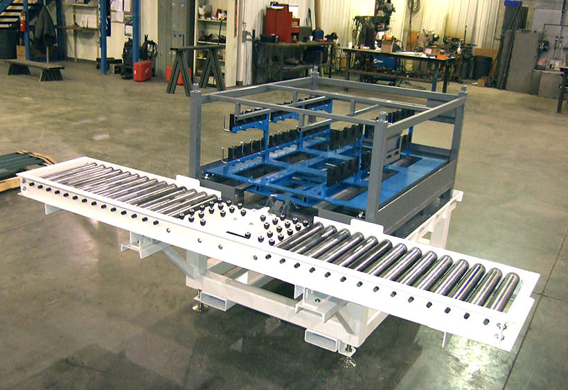 Stand alone rack load station with removable inner racks