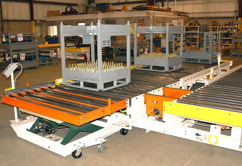 Standard rack load station with lift table