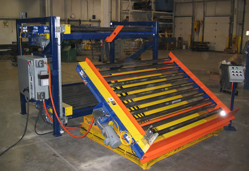 Over/under with lift and tilt for product racks