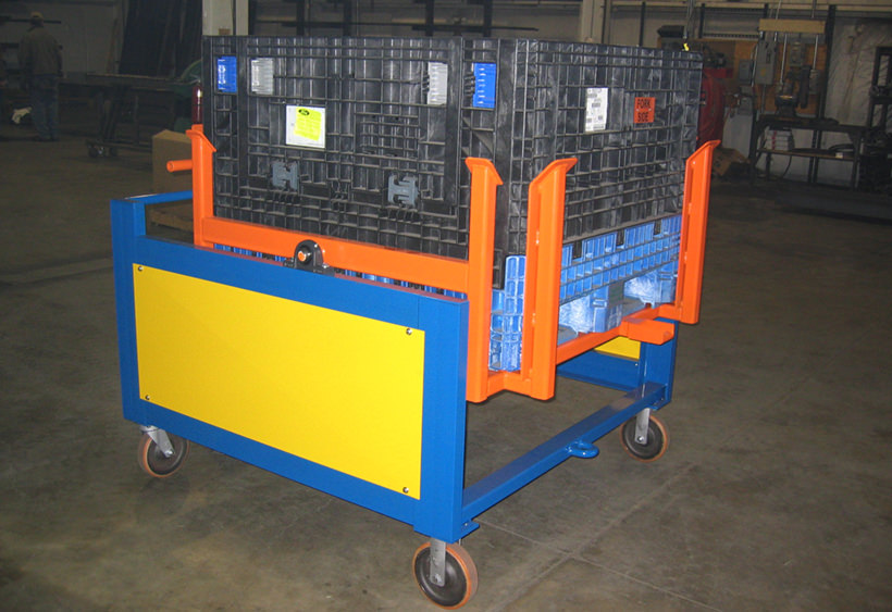 90 Degree tilt cart for plastic tote