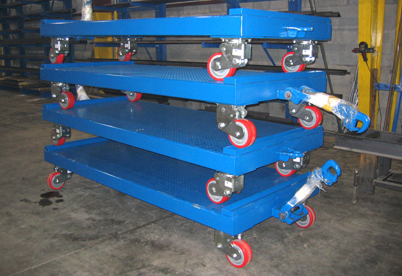 High capacity die carts