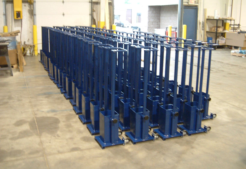 In-process conduit carts