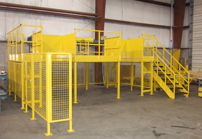 Product depalletization access platform