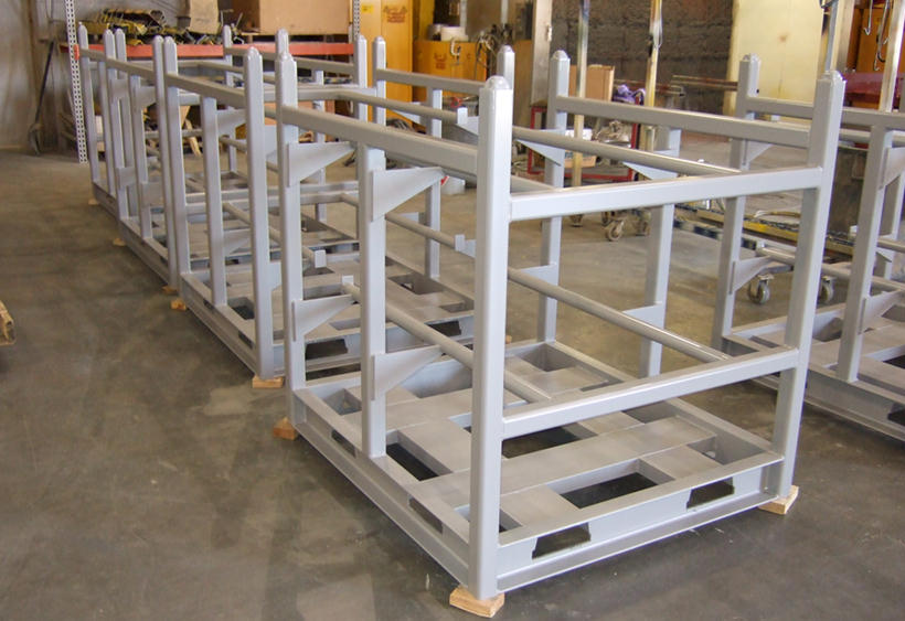In-process casting racks